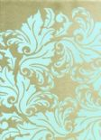 Reflections Shine Duck Egg Wallpaper 1910/769 By Prestigious Textiles